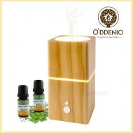 森呼吸原木香氛機/高頻超音波水氧機(台灣製)+10ml純精油2瓶