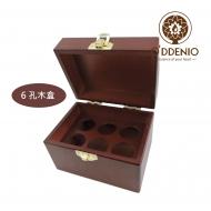 高級6孔精油木盒~抽取式內格,最多可放12瓶10ml精油