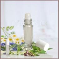 8ml白蓋玻璃滾珠瓶 (台灣製)
