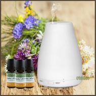 日式香氛LED高頻噴霧水氧機+10ml純精油3瓶